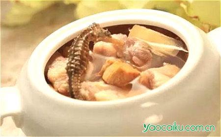 核桃瘦肉海马汤