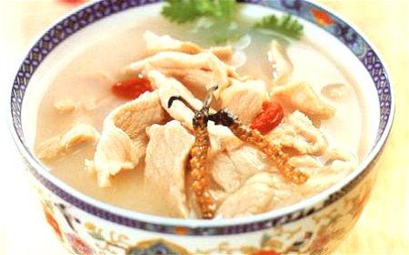虫草白及蛤蚧瘦肉汤