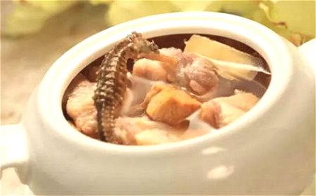 海马红枣炖瘦肉